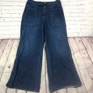 Anthropologie Pilcro High Rise Wide Leg Jeans